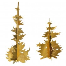 Winter Forest Trees, Gold - small & medium