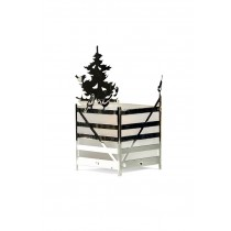 Winter Forest, Tealight Holder with Birds, Silver