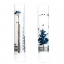 """Winter Forest"" Count Down Candle with Birds"